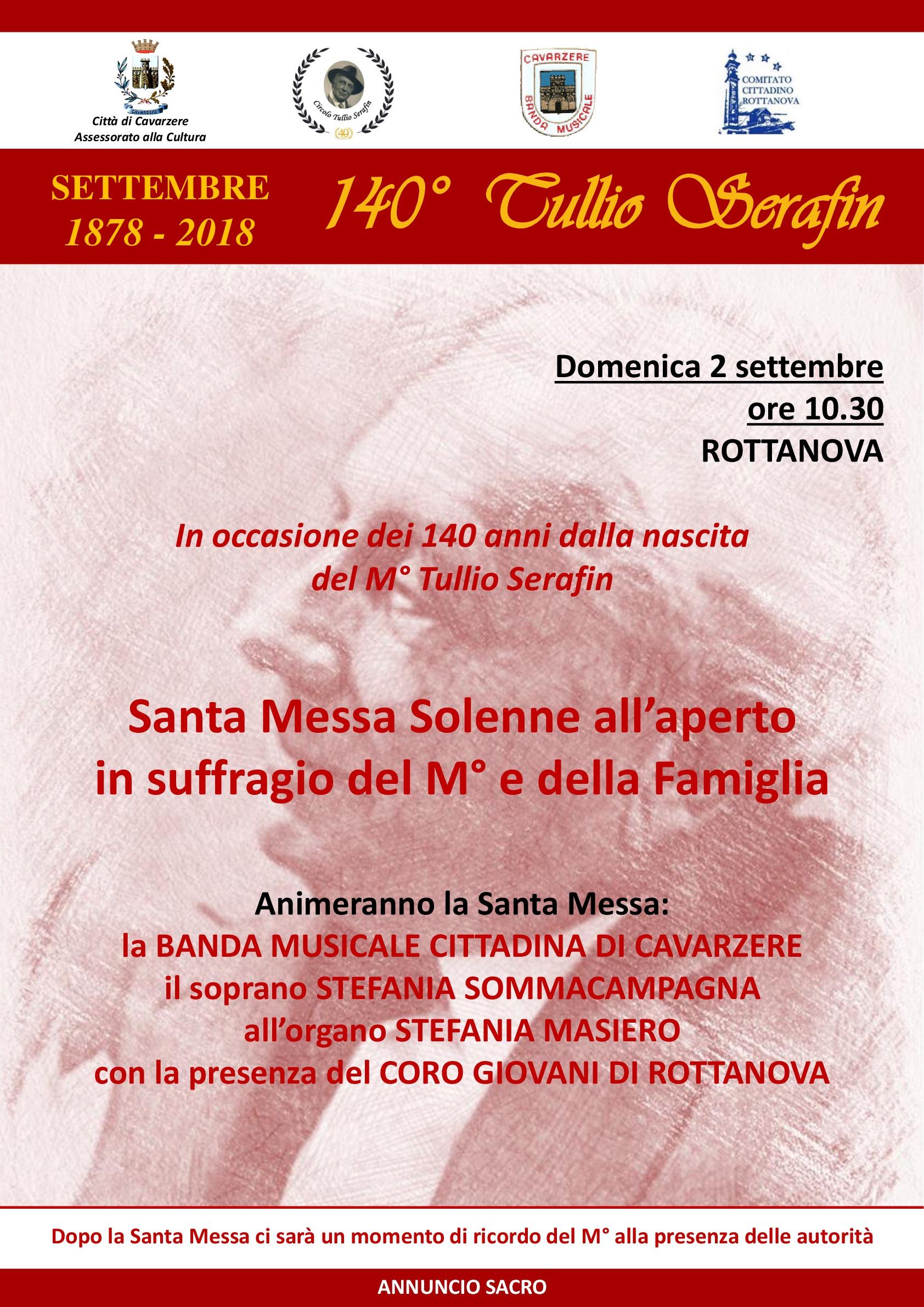 Una domenica di settembre a Rottanova… A 140 dalla nascita di Tullio Serafin