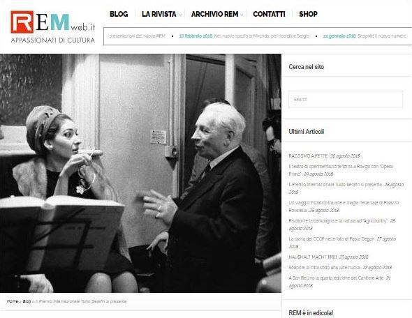 Il Premio Internazionale Tullio Serafin si presenta (Remweb)