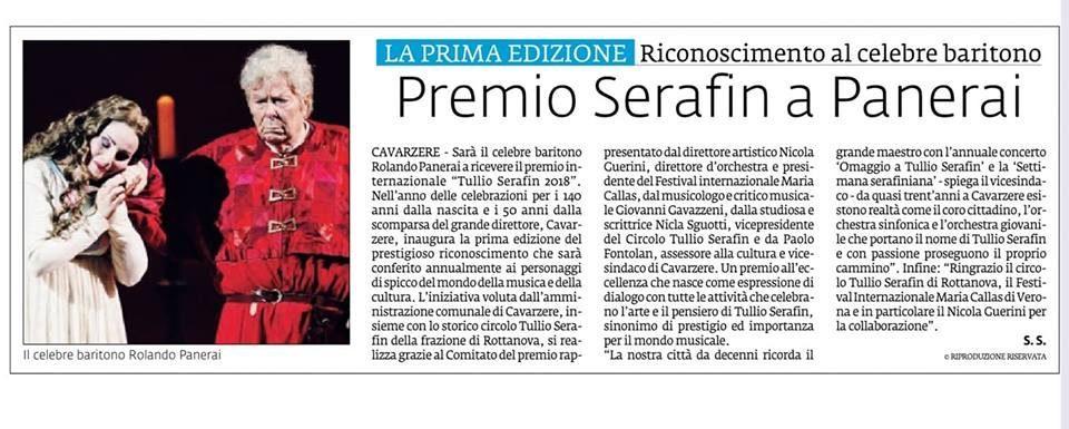 Premio Serafin a Panerai – La Voce di Rovigo