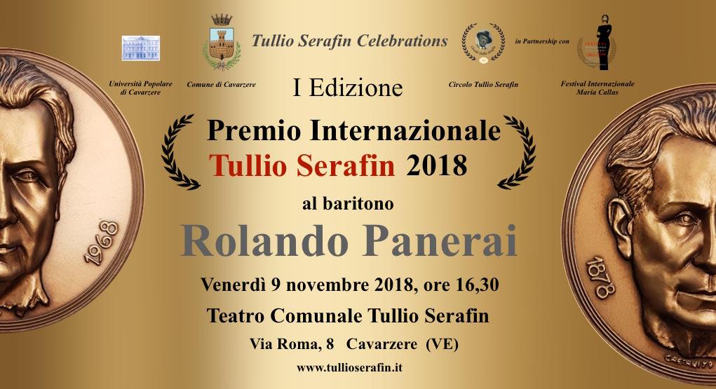 Rolando Panerai riceverà il Premio Internazionale Tullio Serafin 2018