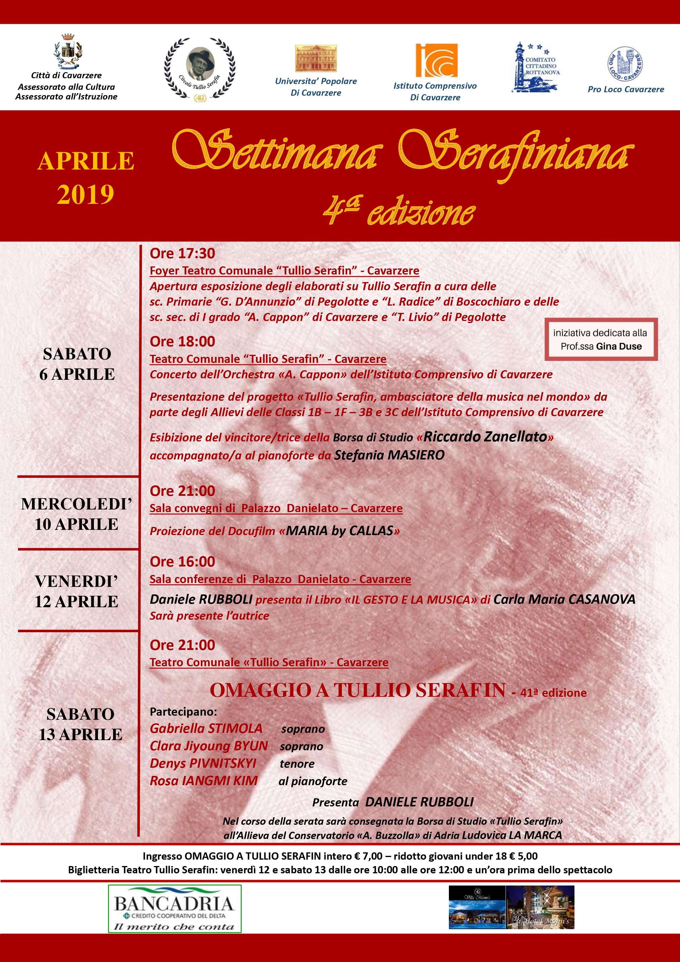 Settimana Serafiniana, dal 6 aprile l'edizione 2019