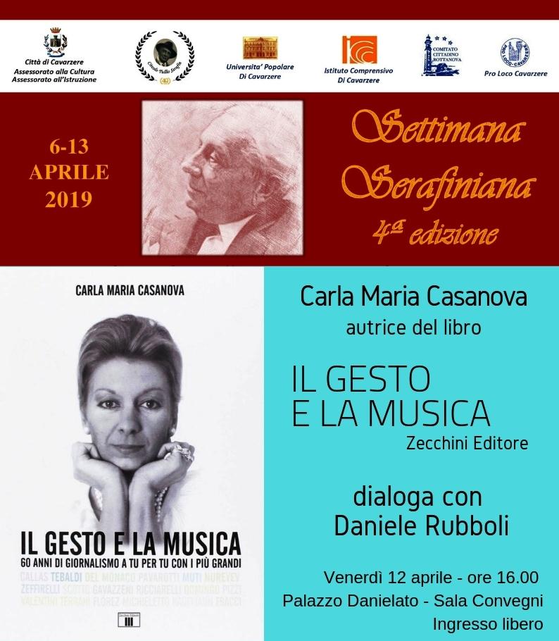 Carla Maria Casanova ospite alla Settimana Serafiniana