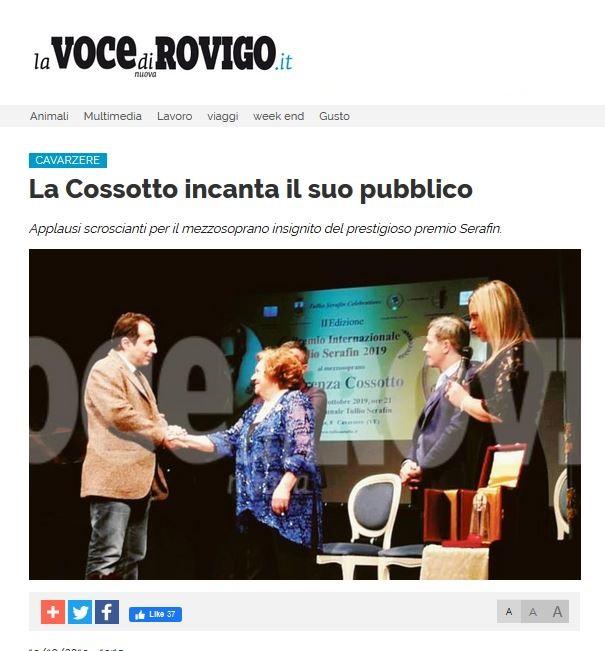 La Cossotto incanta il suo pubblico – La Voce di Rovigo