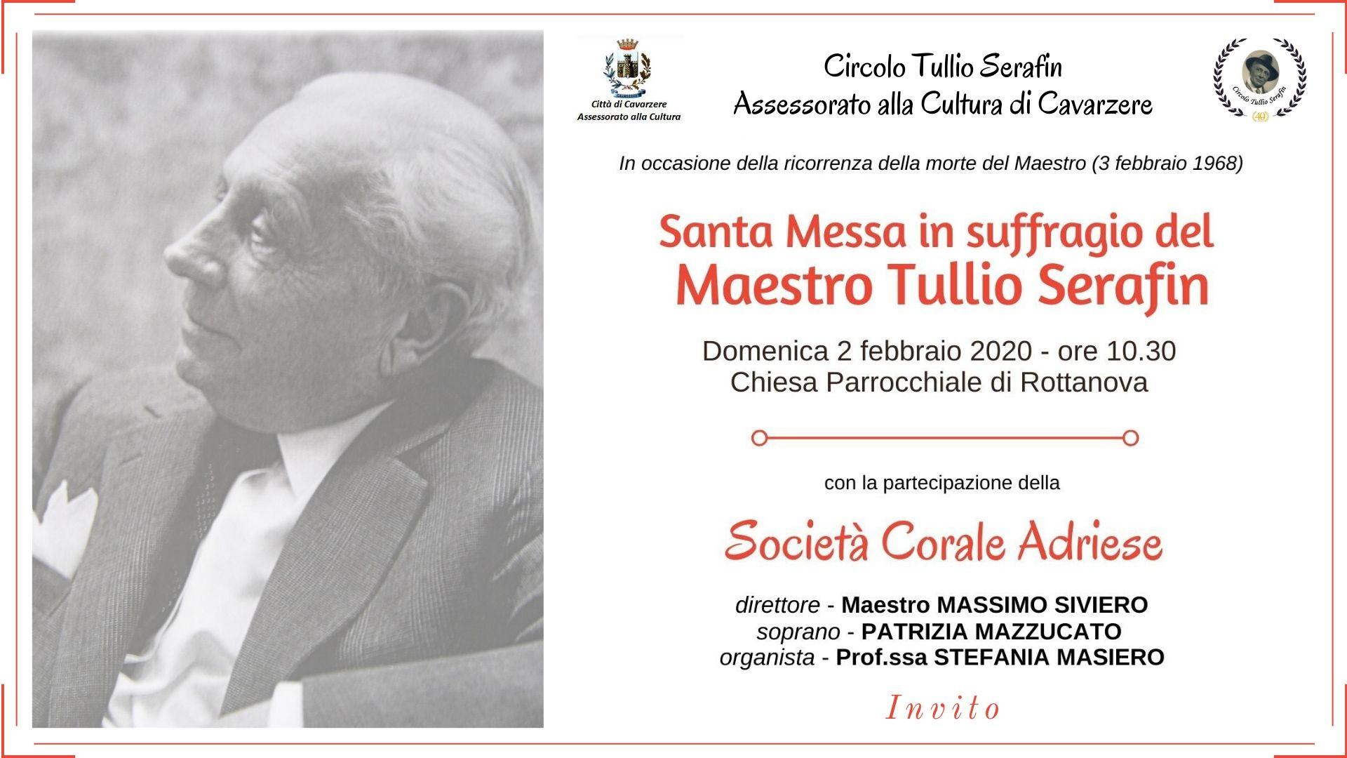 Un nuovo anno nel ricordo del Maestro Tullio Serafin