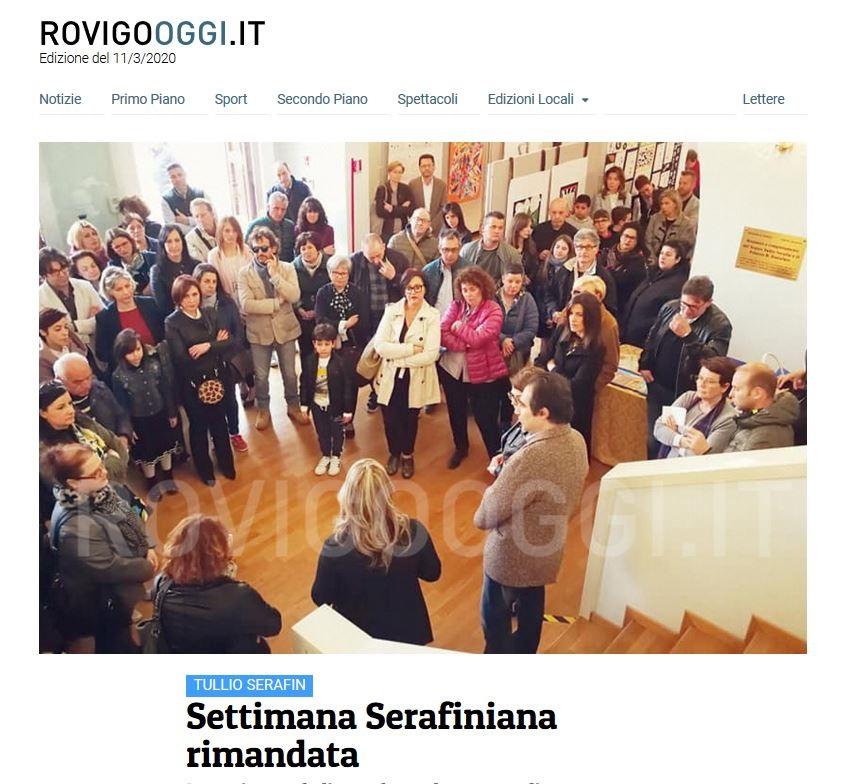 Settimana Serafiniana rimandata – RovigoOggi.it